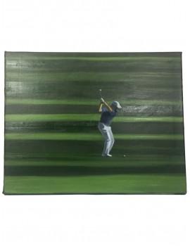 """Obraz Olej """"Golf w cieniu drzew"""""""