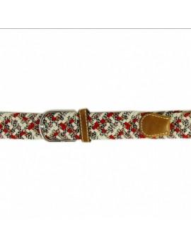 Pasek elastyczny melanż beżowo - brązowy