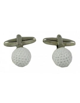 Spinki do mankietów - golfowa piłeczka