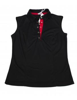 Koszulka Polo czarna z czerwonym
