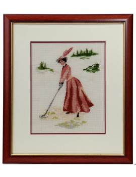 """Obraz haftowany """"Golfistka"""""""