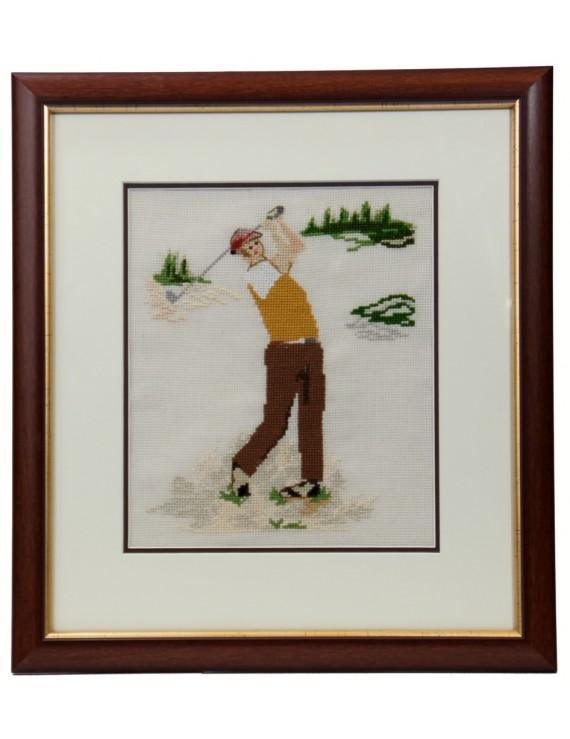 "Obraz haftowany ""Golfista"""