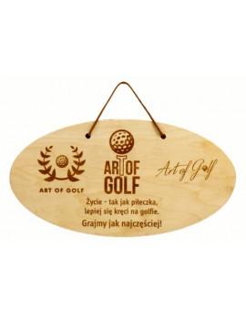 """Tabliczka drewniana """"Logo Golf"""""""