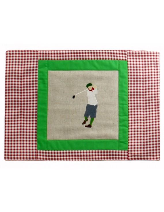 Serwetka zielona z golfistą