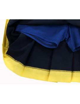 Spódnica ze spodenkami granatowa z żółtym - S