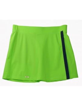 Spódnica zielona z granatem - L