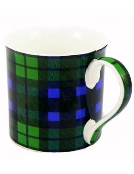 Kubek Szkocka Krata Niebiesko-Zielony