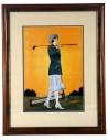golf retro żółty