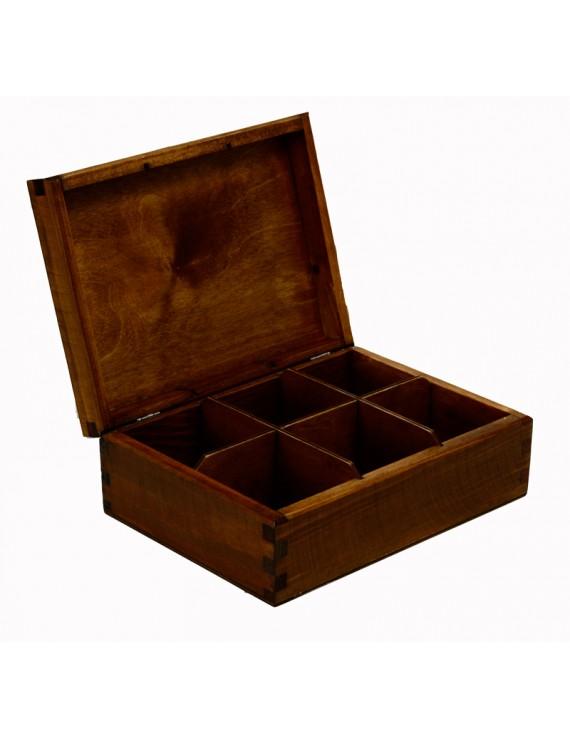 """Pudełko Herbaciane Intarsja """"Kij Golfowy"""""""