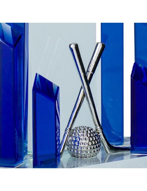 Statuetka - szklana dekoracja golf