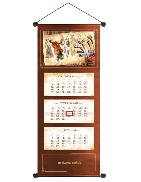 Kalendarz golfisty 2018 trójdzielny