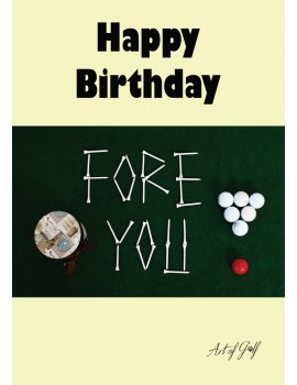 """Karta urodzinowa """"Fore You"""""""