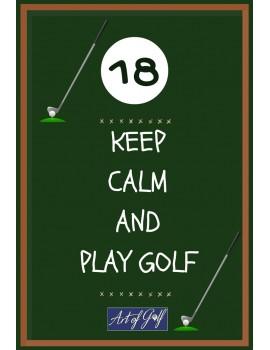 Karta urodzinowa Keep Calm and Play Golf